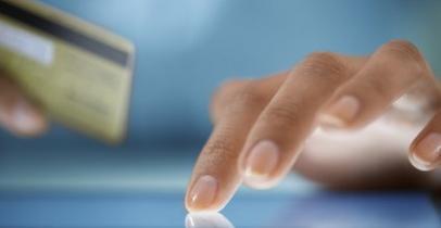 Carte bancaire et tablette